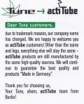 actiTube Verbraucherhinweis auf Englisch